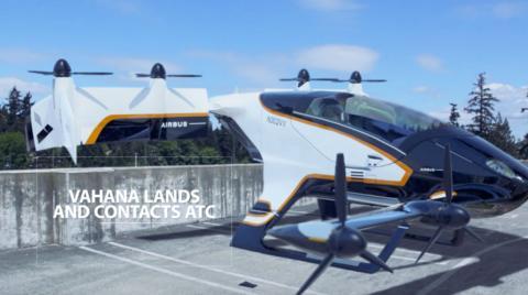Vahana, l'autre concept de Taxi Volant d'Airbus