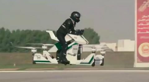 Bientôt des motos volantes pour la police de Dubäi
